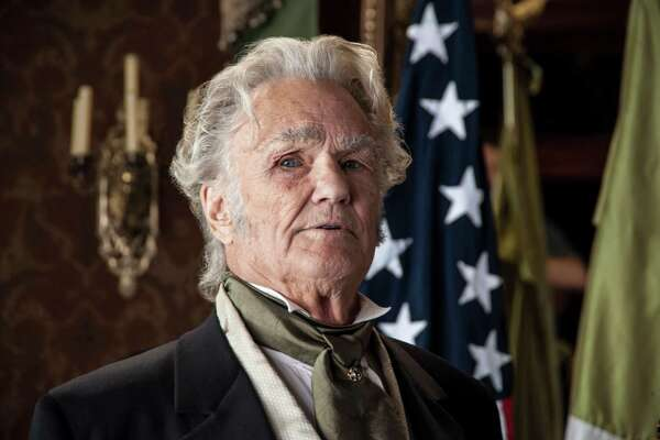 "Kris Kristofferson as President Andrew Jackson, in ""Texas Rising"" on History channel."