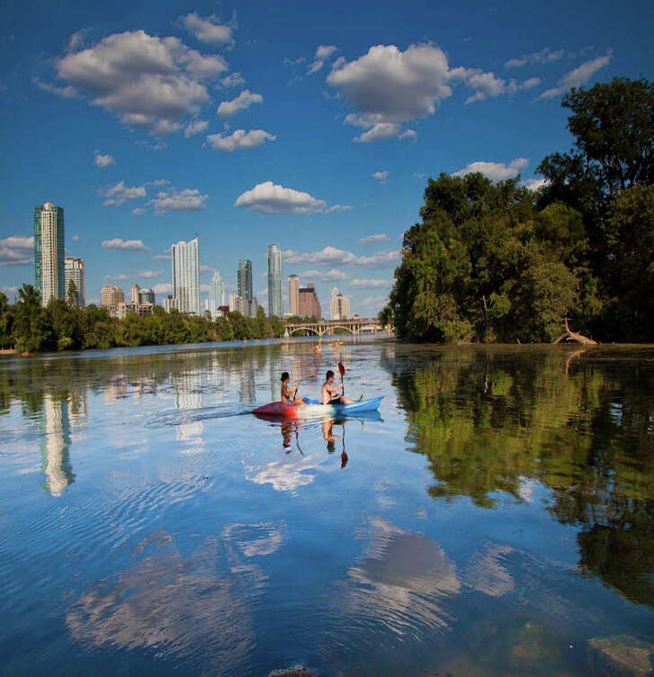 Kayaking on Lady Bird Lake