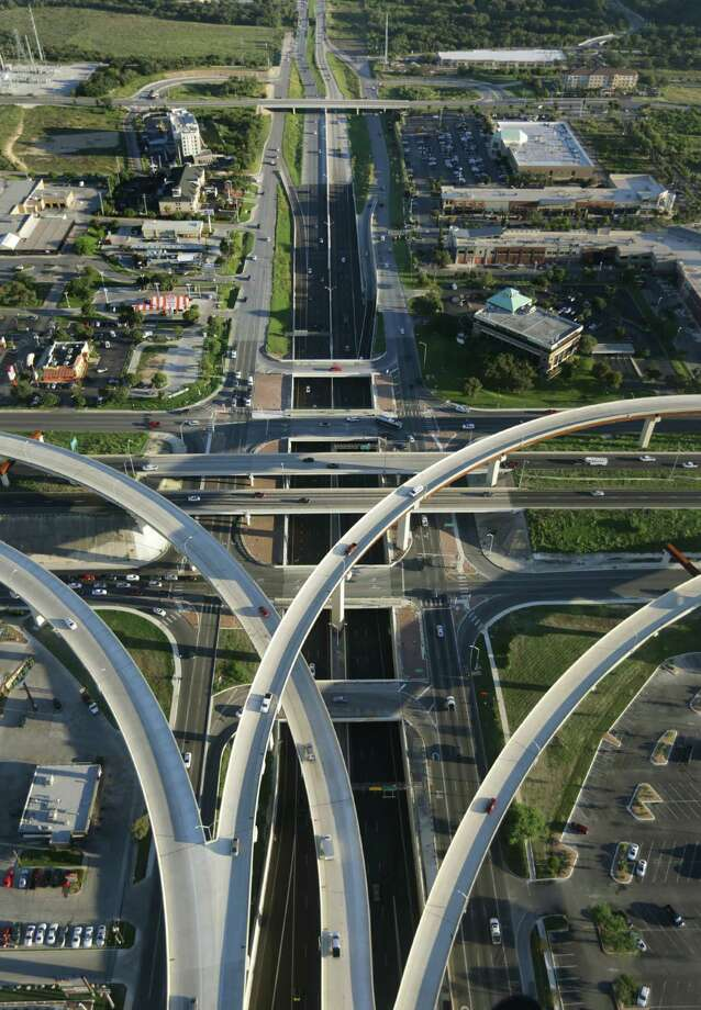 Highway interchanges, such as the one between Loop 1604 and U.S. 281 on the North Side, have helped traffic congestion but won't be enough for the future. Photo: BOB OWEN /San Antonio Express-News / © 2012 San Antonio Express-News