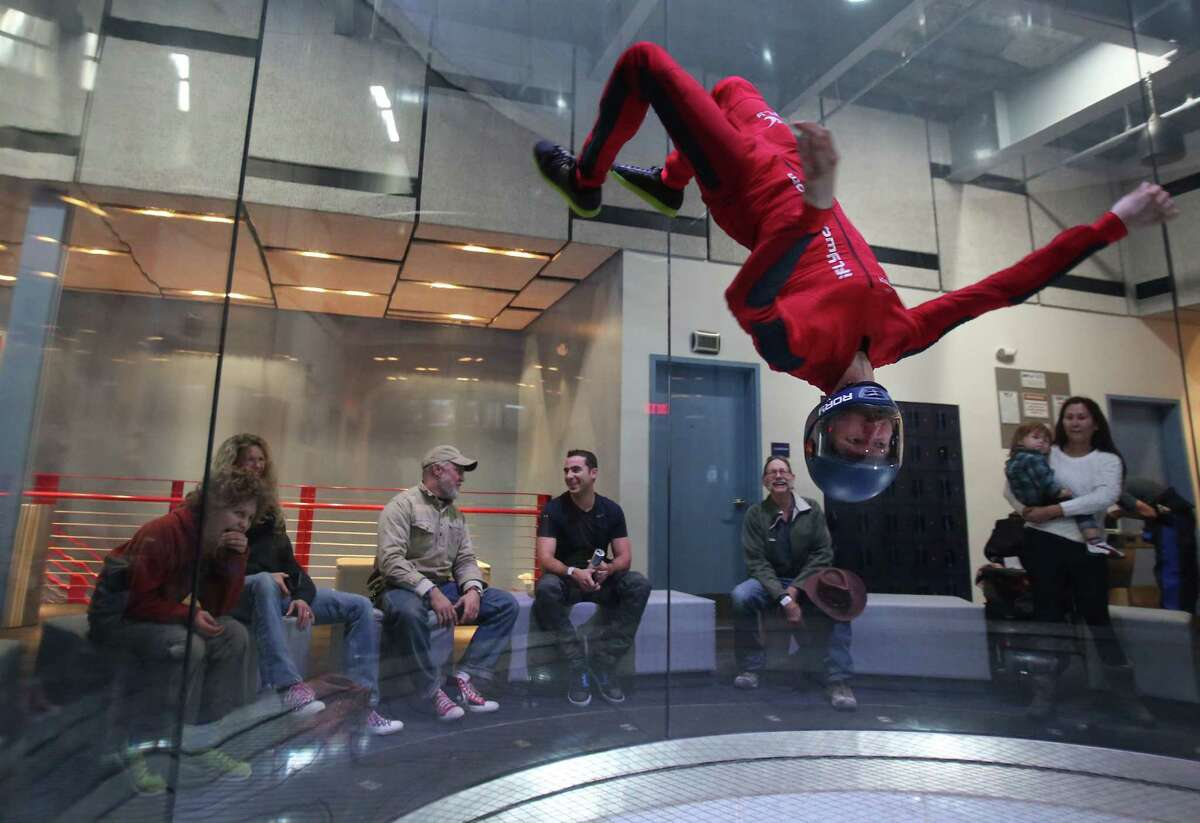 iFLY INDOOR SKYDIVING Enormous vertical wind tunnels allow for safe and fun flying with this company that has two Houston-area locations. All ages can participate and iFly provides all the gear and instruction. Houston: 9540 I-10, 281-942-4359 Woodlands: 26860 N. I-45,281-942-4359