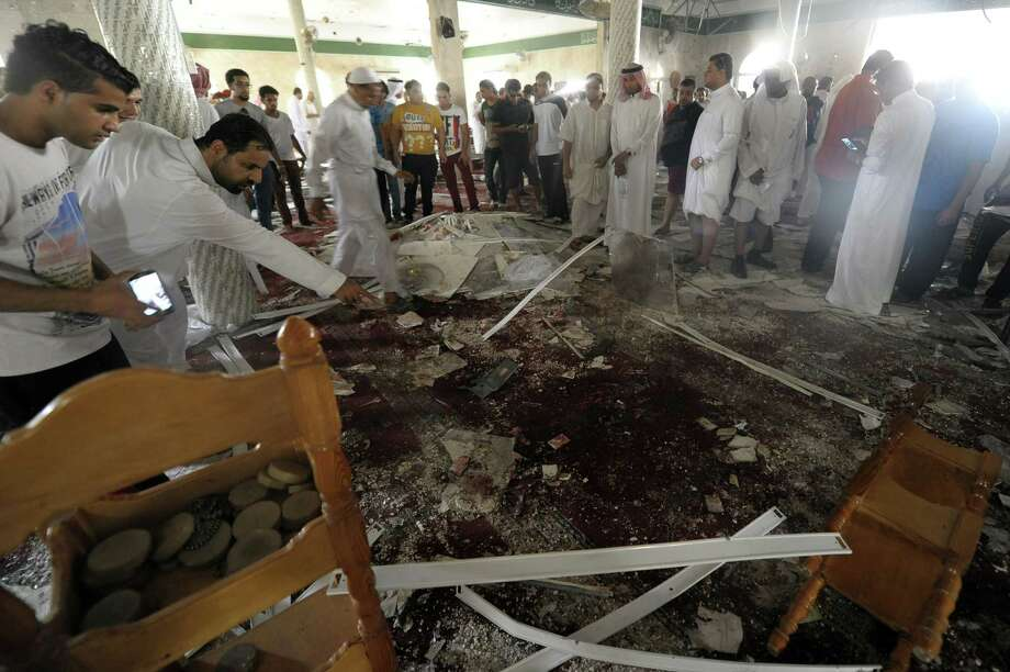 A suicide bomber struck a mosque in Al Qudaih, Saudi Arabia. The area has experienced sectarian tensions in the aftermath of the Arab Spring revolts. Photo: Getty Images / AFP