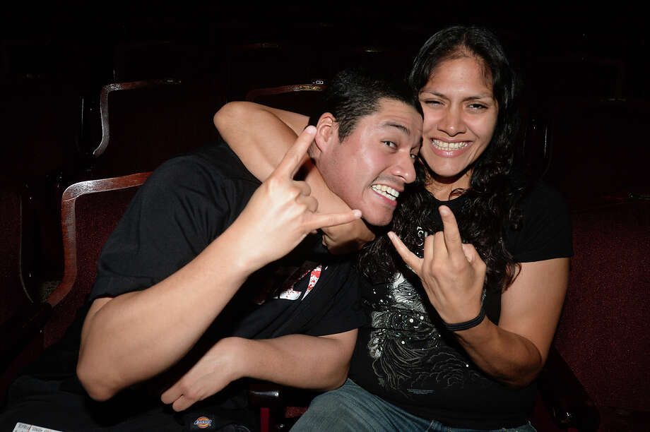 John Sonnen and Maria Perez attended the Fozzy show at the Jefferson Theatre Friday night. Four area bands played the heavy metal venue.