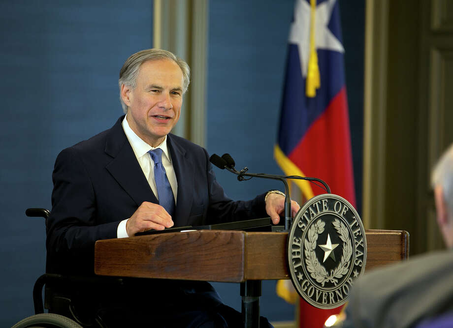 Texas Gov. Greg Abbott speaks at the Texas Public Policy Foundation new building grand opening in Austin, Texas, Tuesday, April 21, 2015. (Deborah Cannon/Austin American-Statesman via AP) AUSTIN CHRONICLE OUT, COMMUNITY IMPACT OUT, INTERNET MUST CREDIT PHOTOGRAPHER AND STATESMAN.COM Photo: Deborah Cannon, MBO / American-Statesman