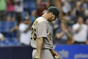 "A's lose again: Kazmir: 'We want to pull our hair out"" - Photo"