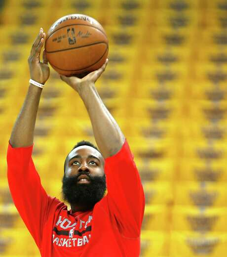 Final seconds aside, James Harden put on quite a show in Game 2 with 38 points, nine assists and 10 rebounds. Photo: James Nielsen, Staff / © 2015  Houston Chronicle