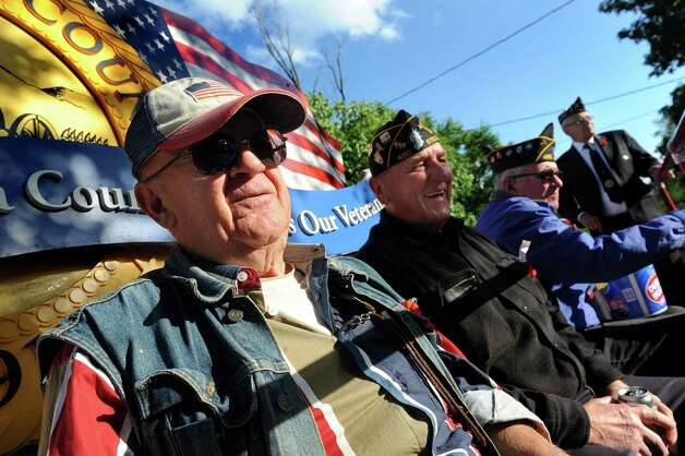 Veterans ride in the Annual American Legion Post 490's Memorial Day Parade on Friday, May 22, 2015, in Stillwater, N.Y. From left are Ray LaVoie, Don Price, Dan Gibeault and Jerry Petronis. (Cindy Schultz / Times Union) Photo: Cindy Schultz / 00031937A