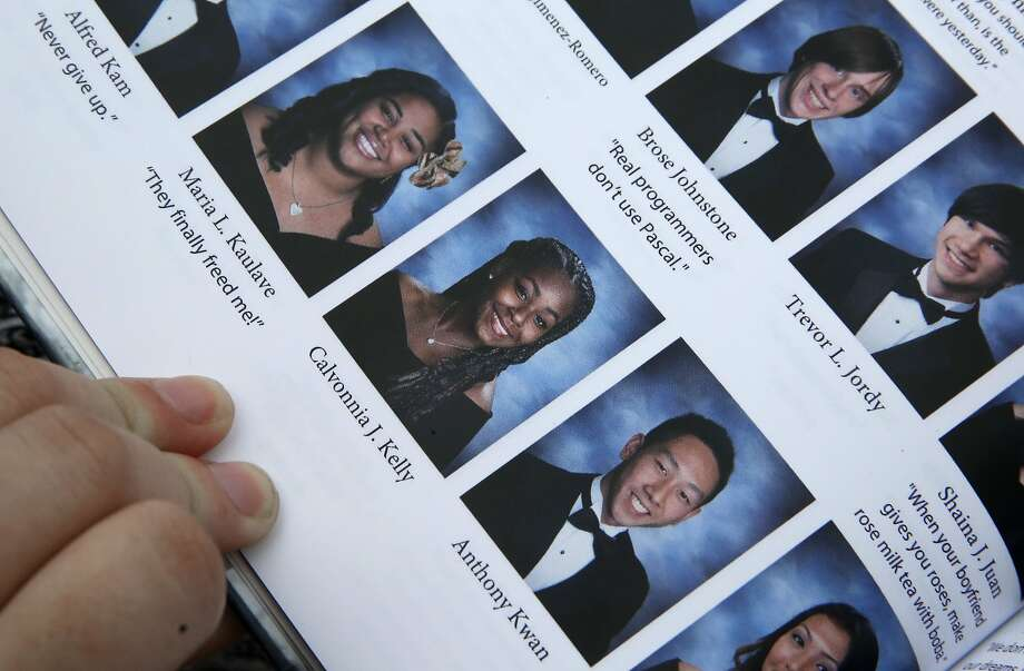 A look at senior Calvonnia Kelly in the 2015 Balboa High School yearbook in San Francisco, California, on Friday, May 22, 2015. Photo: Liz Hafalia, The Chronicle