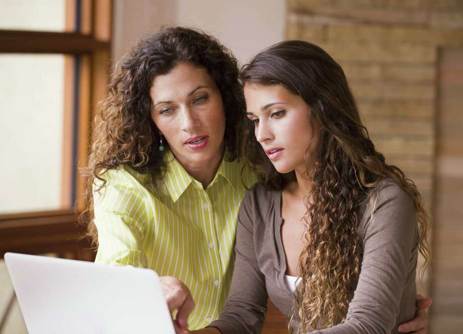 A precept of financial planning is to put saving for retirement ahead of saving and paying for college education. But a recent T. Rowe Price survey found that 52 percent of parents said they were putting a higher-education fund ahead of saving for their own retirement. Mixed race mother and daughter using laptop together Photo: Getty Images / Blend Images