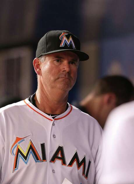 MIAMI, FL - MAY 20:  New manager Dan Jennings #26 of the Miami Marlins walks through the dugout after losing the game against the Arizona Diamondbacks at Marlins Park on May 20, 2015 in Miami, Florida.  (Photo by Rob Foldy/Getty Images) Photo: Rob Foldy, Stringer / 2015 Getty Images