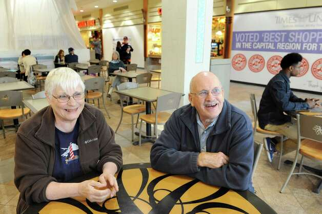 Norma and Ernest Hitchcock of East Meredith, Delaware County, at lunchtime in the food court on Wednesday, May 20, 2015, at Colonie Center in Colonie, N.Y. (Cindy Schultz / Times Union) Photo: Cindy Schultz / 00031908A