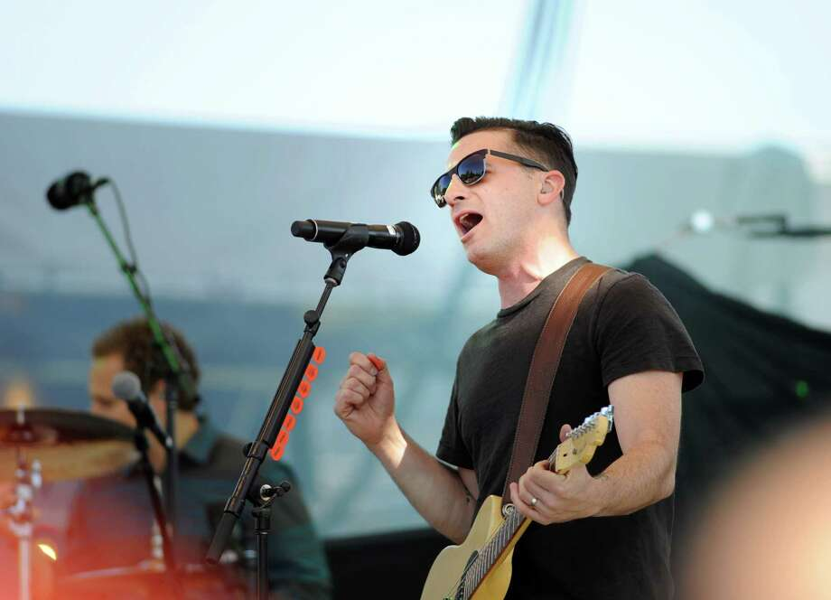 Marc Roberge, the lead singer for the band O.A.R. performs during the Greenwich Town Party at Roger Sherman Baldwin Park, Greenwich, Conn., Saturday, May 23, 2015. Photo: Bob Luckey / Greenwich Time