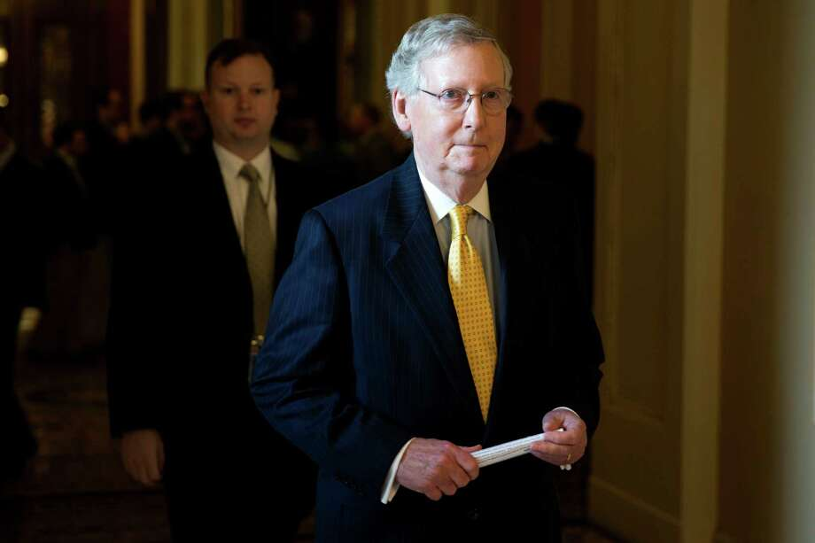 Majority Leader Mitch McConnell wanted to extend the Patriot Act. Photo: Evan Vucci /Associated Press / AP