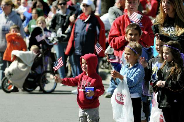 Residents cheer during the Ballston Spa Memorial Day Parade on Saturday, May 23, 2015, in Ballston Spa, N.Y. (Cindy Schultz / Times Union) Photo: Cindy Schultz / 00031958A