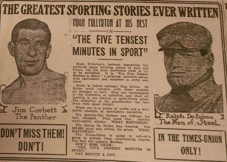 Sports coverage touted in the Times Union -- 101 years ago in 1914