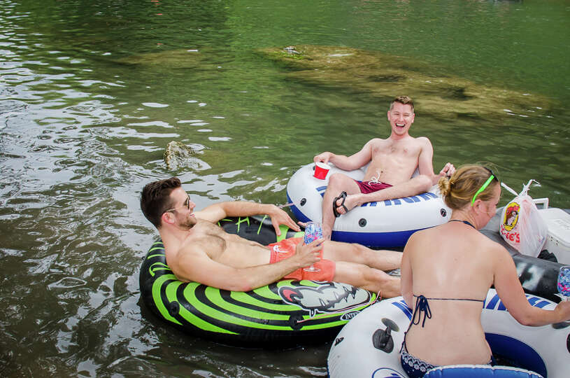 The threat of severe weather did not stop these intrepid water enthusiasts from hitting the Comal Ri