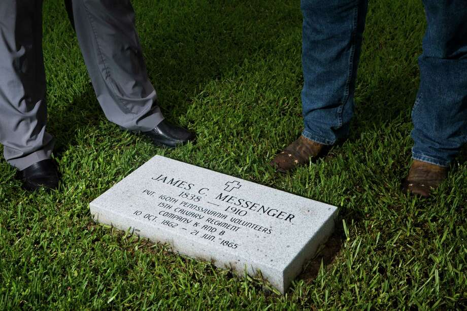 A proper headstone and burial site for James C. Messenger, a Union soldier who was buried in Katy, will be part of a Memorial Day ceremony. Photo: Marie D. De Jesus, Staff / © 2015 Houston Chronicle