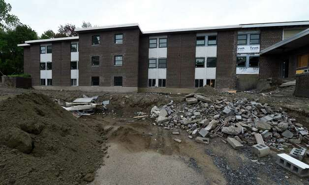 Construction is continuing on a new apartment complex that will replace a former convent Tuesday morning May 12, 2015 in Rensselaer, N.Y.    (Skip Dickstein/Times Union) Photo: SKIP DICKSTEIN / 00031793A