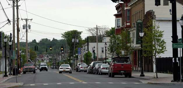 Street level view of Broadway Tuesday morning May 12, 2015 in Rensselaer, N.Y.    (Skip Dickstein/Times Union) Photo: SKIP  DICKSTEIN / 00031793A