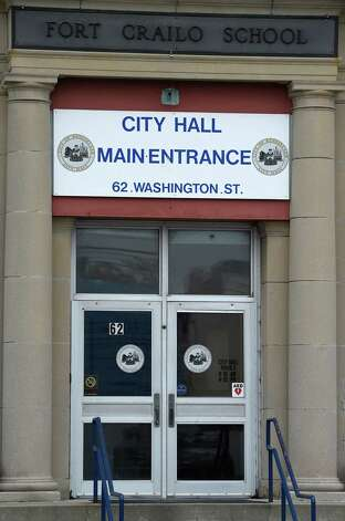 The main entrance of Rensselaer City Hall Tuesday morning May 12, 2015 in Rensselaer, N.Y.    (Skip Dickstein/Times Union) Photo: SKIP DICKSTEIN / 00031793A