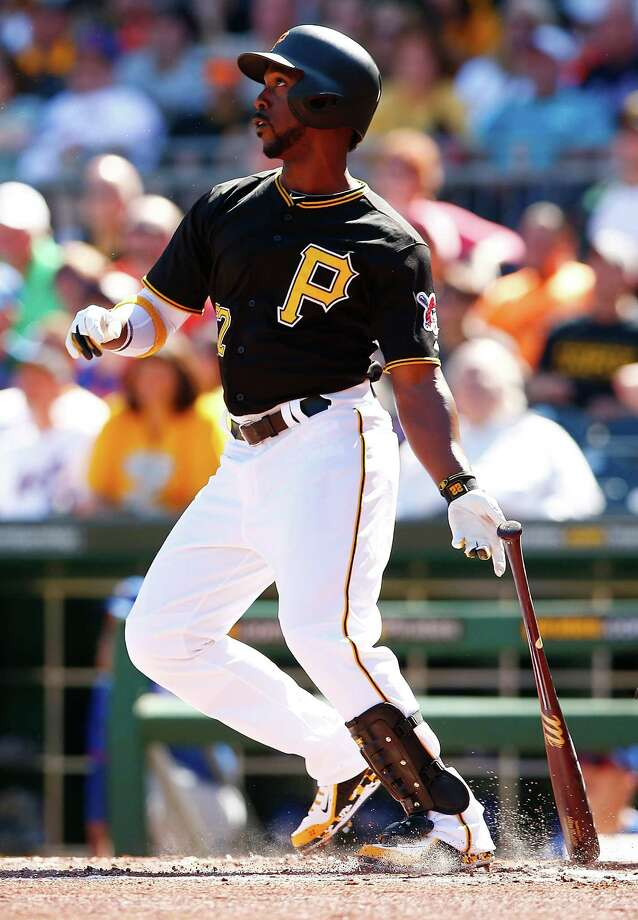 PITTSBURGH, PA - MAY 23: Andrew McCutchen #22 of the Pittsburgh Pirates hits a two-run home run in the first inning against the New York Mets during the game at PNC Park on May 23, 2015 in Pittsburgh, Pennsylvania.  (Photo by Jared Wickerham/Getty Images) ORG XMIT: 538580939 Photo: Jared Wickerham / 2015 Getty Images