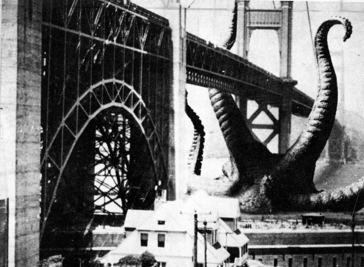 It Came From Beneath the Sea (1955) In case you thought films showing the Golden Gate Bridge being destroyed in one way or another was a recently invented film trope,