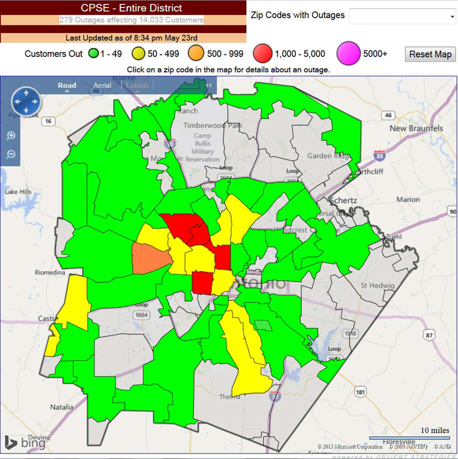 Cpsenergy Cpse Outage Cps District Map Wwwpicsbudcom