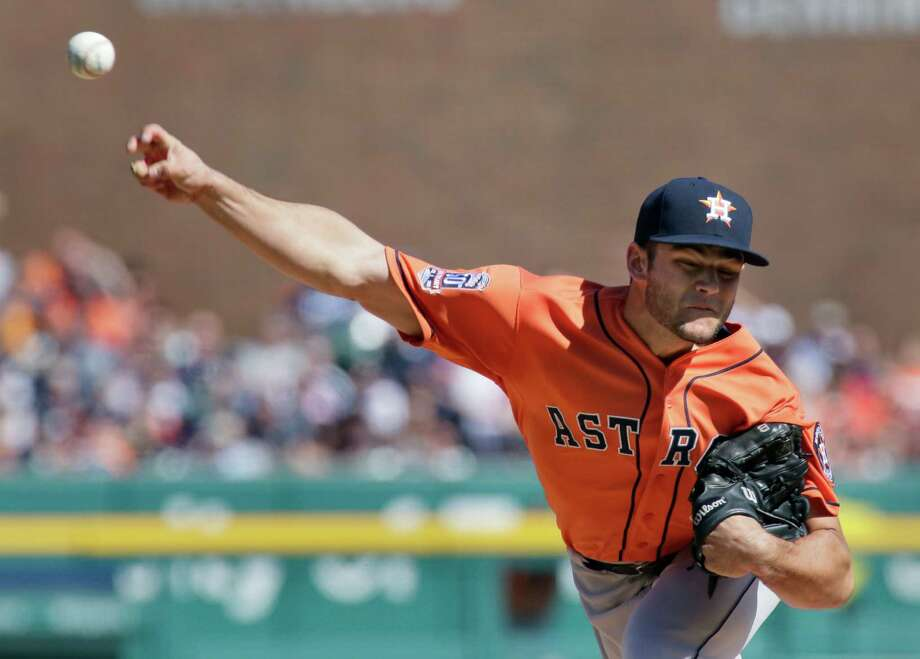 Astros starter Lance McCullers Jr. threw exactly 100 pitches, allowing six hits and two runs in six innings against the Tigers on Saturday. Photo: Duane Burleson, FRE / FR38952 AP