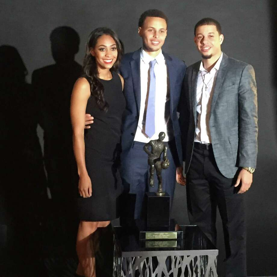 The athletic genes among the Curry siblings are not limited to NBA MVP Stephen, center. Brother Seth played at Duke and still hopes to play in the NBA, and sister Sydel is a volleyball player at Elon University in North Carolina. Photo: Curry Family