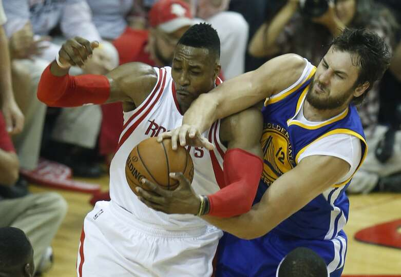 Houston Rockets center Dwight Howard (12) and Golden State... Photo-8037737.110367 - Houston ...