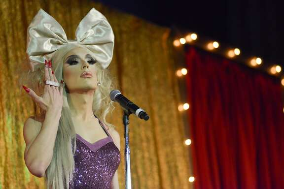 Alaska Thunderf---- (aka Alaska 5000) performs at the Drag Queens of Comedy on Saturday, May 23, 2015 in San Francisco, Calif. The Drag Queens of Comedy show featured 11 comedians at the Castro Theater.