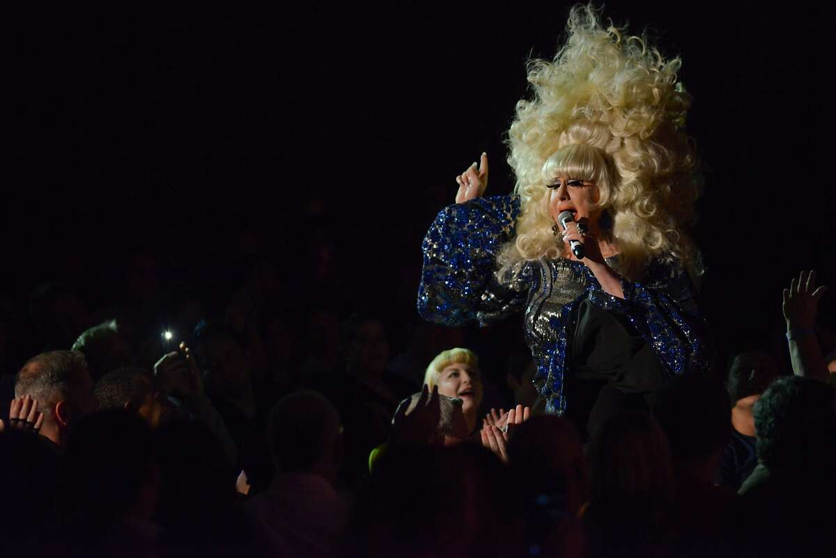 Lady Bunny performs at the Drag Queens of Comedy on Saturday, May 23, 2015 in San Francisco, Calif. The Drag Queens of Comedy show featured 11 comedians at the Castro Theater.