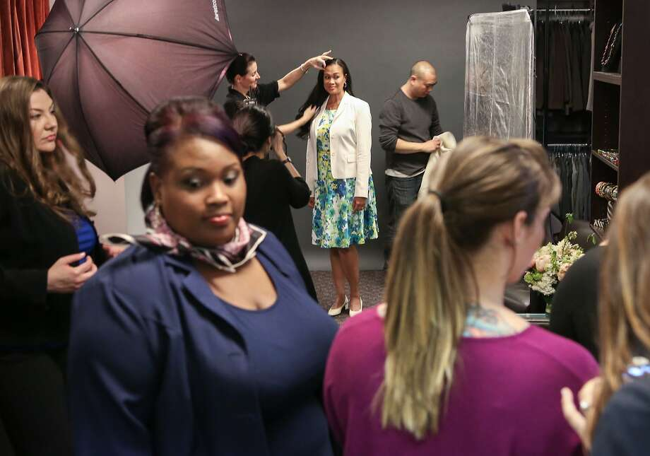 A photographer, makeup artist, and two hairstylists all contribute their time for the Dress for Success 10th Annual Fashion Gala photo shoot on Wednesday, May 29, 2015 in San Francisco, Calif. Photo: Amy Osborne, The Chronicle