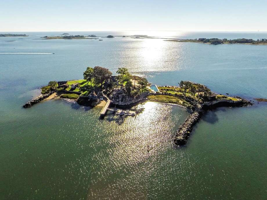 Tavern Island in Connecticut is listed for $10,995,000. Photo: Zillow