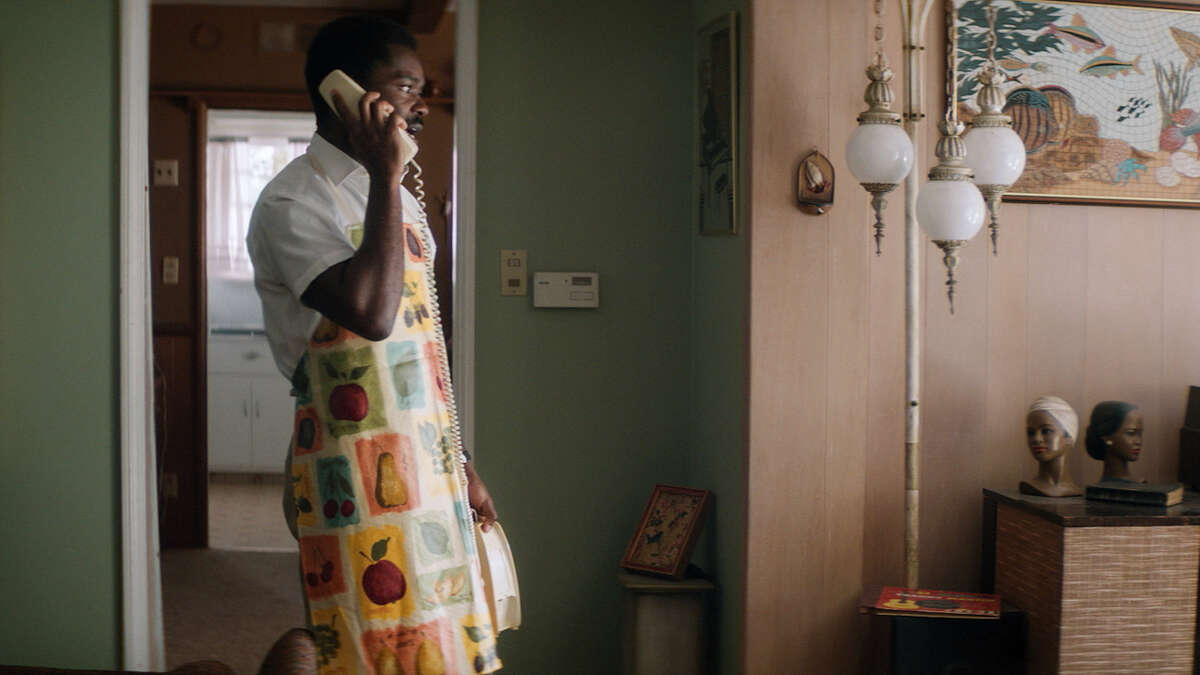 """When Peter (David Oyelowo) isn't talking to himself he's doing a video chat or addressing a three-paneled makeup mirror that his mother bought in """"Nightingale."""""""