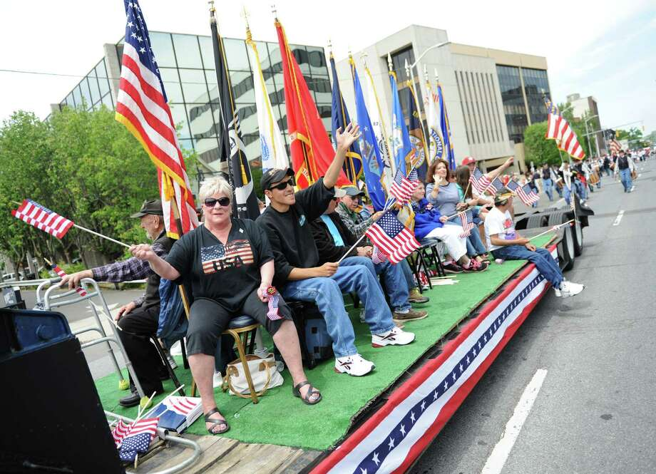 Stamford's Memorial Day Parade is on Sunday at 12 p.m. The parade will step-off from Hoyt Street at Summer Street. Photo: Tyler Sizemore / Greenwich Time