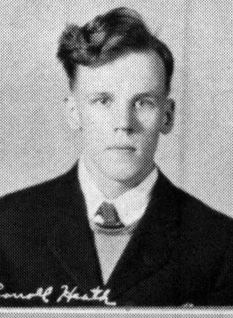 """Carroll Heath was described as """"quiet, curly locks, good natured"""" in his 1940 high school yearbook. Photo: Uncredited, HONS / Gowanda Central School District"""