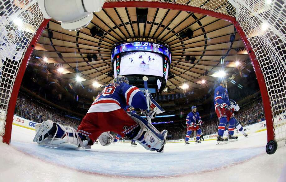 NEW YORK, NY - MAY 24:  Valtteri Filppula #51 of the Tampa Bay Lightning scores a goal against Henrik Lundqvist #30 of the New York Rangers during the second period in Game Five of the Eastern Conference Finals during the 2015 NHL Stanley Cup Playoffs at Madison Square Garden on May 24, 2015 in New York City.  (Photo by Bruce Bennett/Getty Images) ORG XMIT: 554342245 Photo: Bruce Bennett / 2015 Getty Images