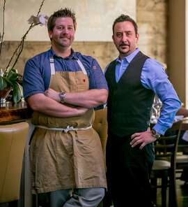 Dustin Valette, the chef; and Aaron Garzini at Valette in Healdsburg,