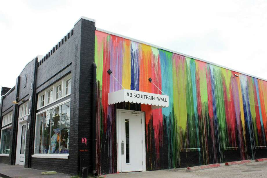 The Biscuit Paint WallThe popular Montrose landmark offers a colorful background for your family photos.1435 Westheimer Road Photo: Sarah Rufca / ONLINE_YES