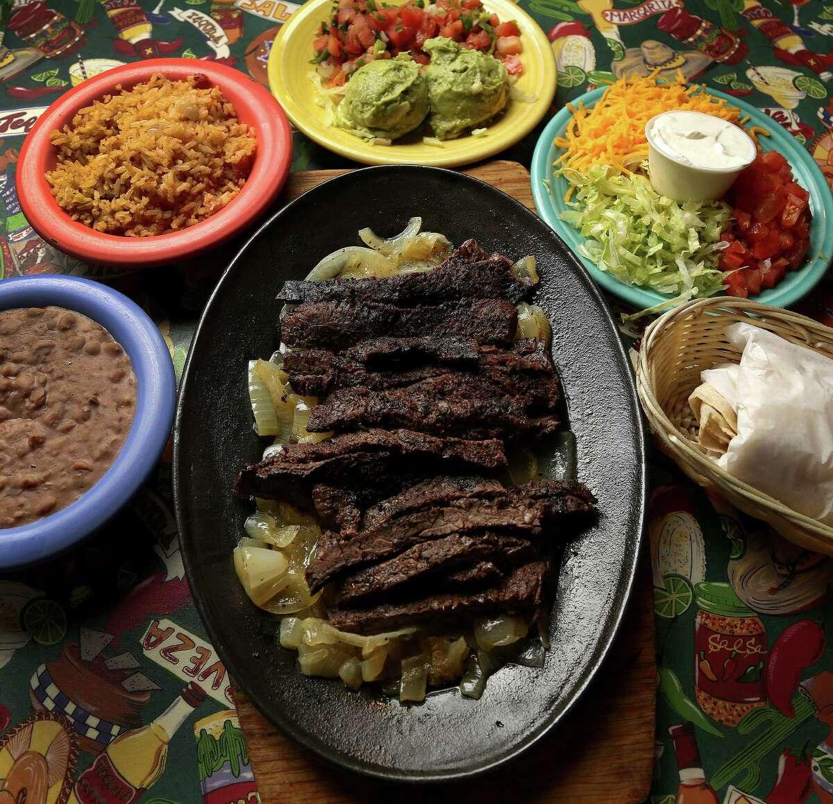Beef fajitas at Lupita's Mexican Restaurant