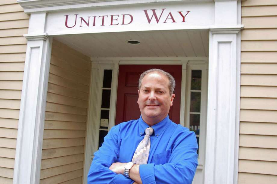 Greenwich United Way President and CEO Stuart Adelberg stands outside the agency's office in Greenwich. Photo: Ken Borsuk / Greenwich Time