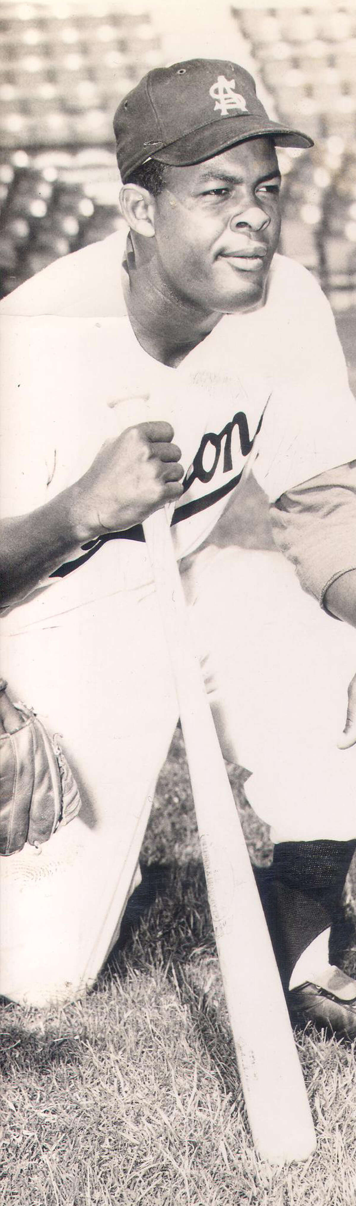 Charlie White of the San Antonio Missions poses in an early 1950s photo. He and Harry Wilson formed the first all-black battery in the Texas League in 1953.
