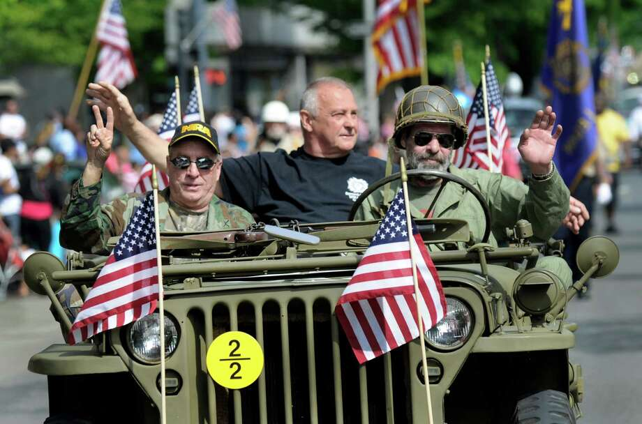 Danbury, Conn. celebrates Memorial Day with a parade downtown followed by a memorial service to honor those that died in service to country, Monday, May 25, 2015. Photo: Carol Kaliff / The News-Times