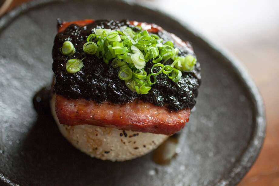 This is the Spam Rice Ball, negi & nori sauce, photographed at Nojo in San Francisco Calif., Friday March 22, 2015. Photo: Randi Lynn Beach, Special To The Chronicle