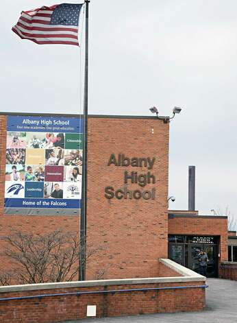 Exterior of Albany High School on Washington Avenue Tuesday March 31, 2015 in Albany, NY.  (John Carl D'Annibale / Times Union) ORG XMIT: MER2015052215384764 Photo: John Carl D'Annibale / 00031247A