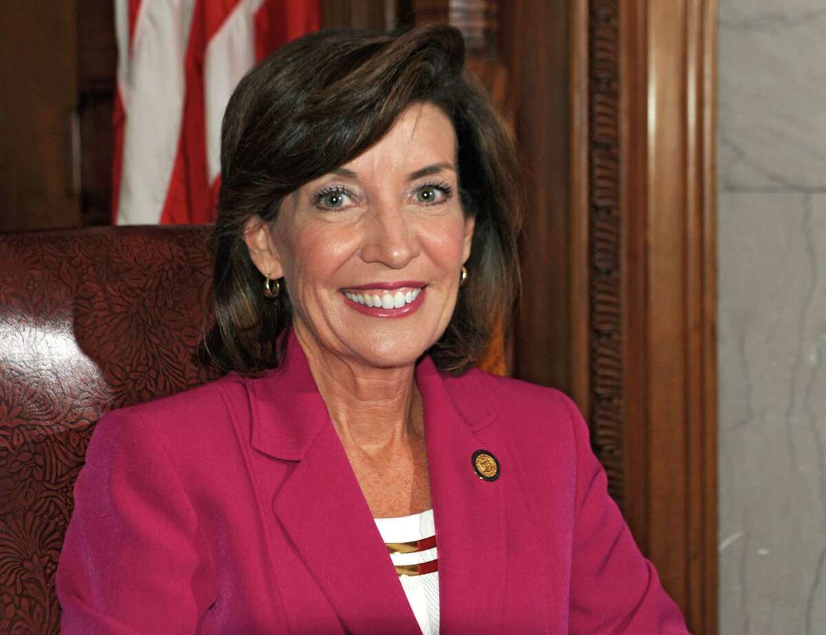 New York State Lieutenant Governor Kathy Hochul poses for a photo before being interviewed in her office at the State Capitol on Wednesday, April 22, 2015 in Albany, N.Y. (Lori Van Buren / Times Union)