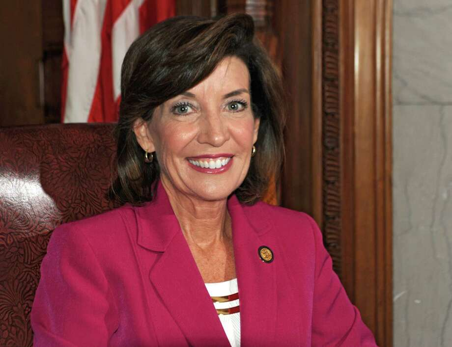 New York State Lieutenant Governor Kathy Hochul poses for a photo before being interviewed in her office at the State Capitol on Wednesday, April 22, 2015 in Albany, N.Y.  (Lori Van Buren / Times Union) Photo: Lori Van Buren / 00031550A