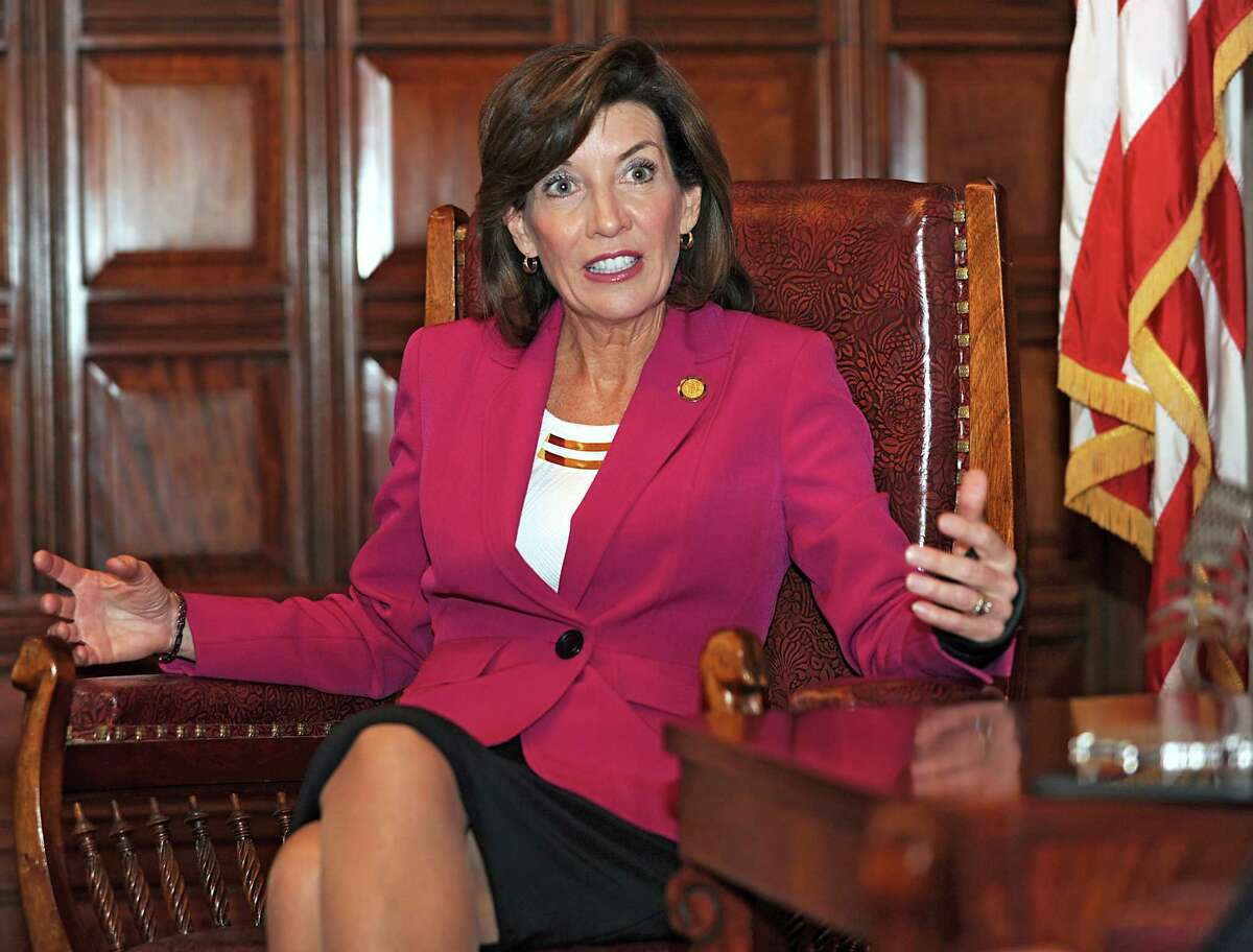 New York State Lieutenant Governor Kathy Hochul is interviewed in her office at the State Capitol on Wednesday, April 22, 2015 in Albany, N.Y. (Lori Van Buren / Times Union)