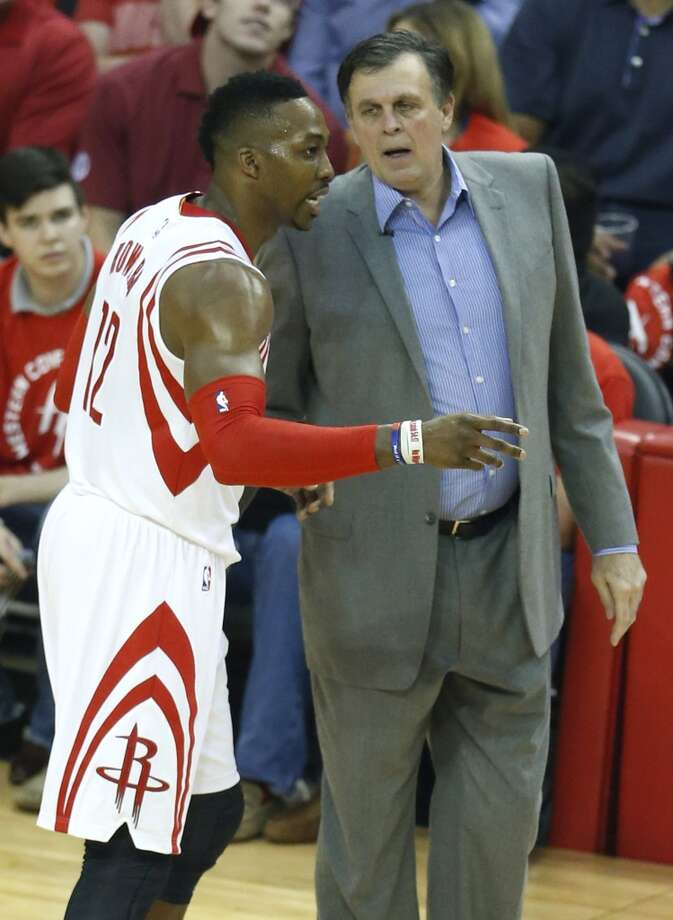 Former Rockets coach Kevin McHale (right) said Dwight Howard's injuries have kept him from being the scoring force he was earlier in his career. Photo: Houston Chronicle