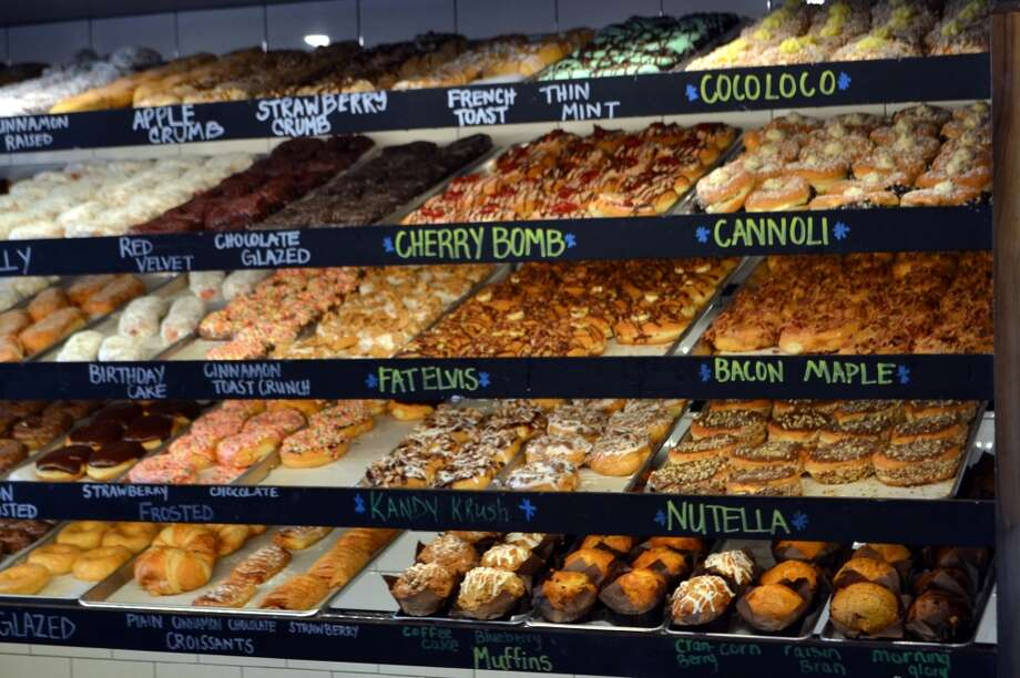 """Donut Crazy has an impressive array of donuts offered daily, as well as a rotating selection of specials. Photo: Jeff """"jfood"""" Schlesinger"""